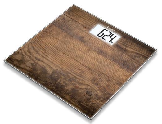 Весы напольные электронные Beurer GS203 макс.150кг рисунок/дерево весы электронные детские beurer jgs22