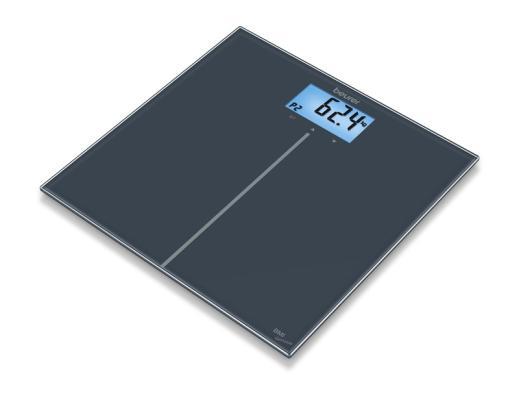 Картинка для Весы напольные Beurer GS280 BMI чёрный 757.31