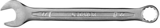 Ключ STAYER PROFI гаечный комбинированный, Cr-V сталь, хромированный, 17мм [27081-17]