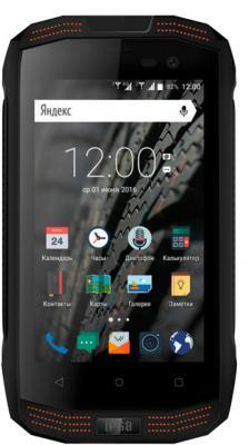 Смартфон Vertex Impress Action, черный/оранжевый