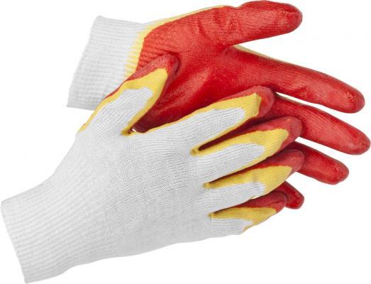 Перчатки STAYER MASTER трикотажные, двойная обливная ладонь из латекса, х/б, 13 класс, S-M [11409-S] перчатки stayer master латексные s 100шт 11205 s