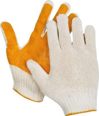 Перчатки STAYER MASTER трикотажные, 7 класс, х/б, обливная ладонь из ПВХ, S-M [11405-S] перчатки stayer master латексные s 100шт 11205 s