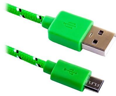 Кабель microUSB 1м Blast BMC-112 круглый зеленый зарядный универсальный usb дата кабель blast blast bmc 410 черный 1м
