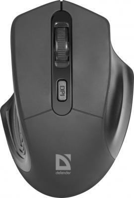 Мышь беспроводная Defender Datum MB-345 чёрный USB цена и фото