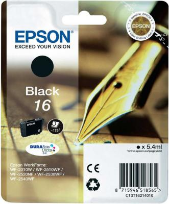 Картридж EPSON 16 черный для WF-2010/WF-2510/WF-2540 f190000 printhead for epson wf 7015 wf 7510 wf 7050 wf 3520 wf 7010 printer head for epson f190000