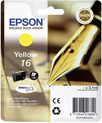 Картридж EPSON 16 желтый для WF-2010/WF-2510/WF-2540 f190000 printhead for epson wf 7015 wf 7510 wf 7050 wf 3520 wf 7010 printer head for epson f190000
