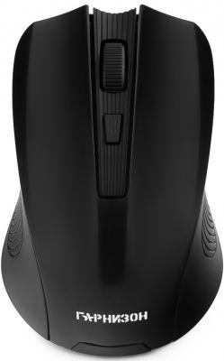Картинка для Гарнизон Мышь беспров. GMW-405, чип X2, черный, 1600 DPI, 3 кн.+ колесо-кнопка