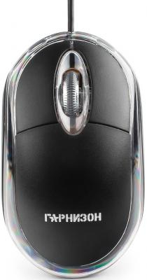 Мышь проводная Гарнизон GM-100 чёрный USB