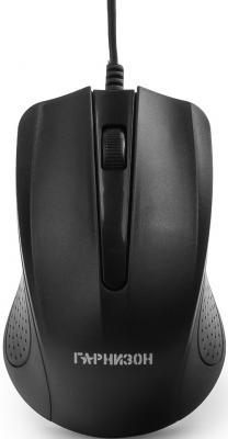 Мышь проводная Гарнизон GM-105 чёрный USB