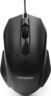 Мышь проводная Гарнизон GM-110 чёрный USB