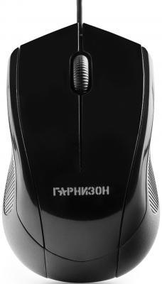 Мышь проводная Гарнизон GM-200 чёрный USB