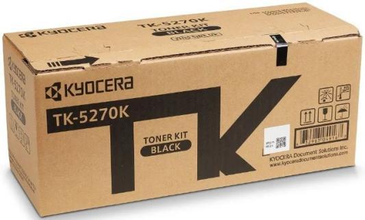 Тонер-картридж TK-5270K 8 000 стр. Black для M6230cidn/M6630cidn/P6230cdn тонер картридж kyocera mita tk 1140