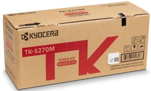 Тонер-картридж TK-5270M 6 000 стр. Magenta для M6230cidn/M6630cidn/P6230cdn тонер картридж kyocera mita tk 435