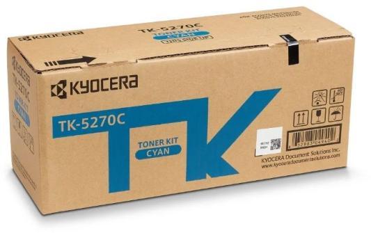Тонер-картридж TK-5270C 6 000 стр. Cyan для M6230cidn/M6630cidn/P6230cdn тонер картридж kyocera mita tk 450 black