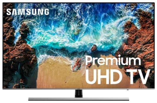 лучшая цена Телевизор Samsung UE65NU8000UXRU черный серебристый