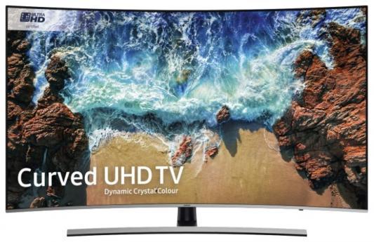 лучшая цена Телевизор Samsung UE55NU8500UXRU черный серебристый