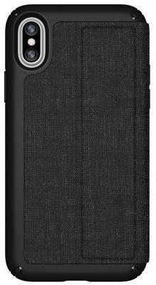 Чехол-книжка Speck Presidio Folio для iPhone X чёрный серый 110575-7358 чехол книжка speck presidio folio для iphone x материал полиуретан цвет красный серый