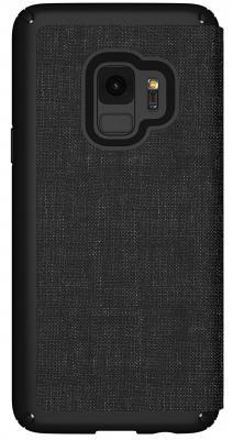 Чехол-книжка Speck Presidio Folio для Samsung Galaxy S9. Материал пластик/полиуретан. Цвет: черный/серый. чехол книжка speck presidio folio для iphone x материал полиуретан цвет красный серый