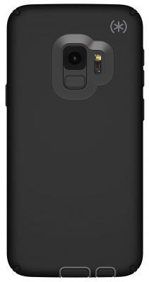 Чехол-накладка Speck Presidio Sport для Samsung Galaxy S9. Материал пластик. Цвет черный/серый/черный. чехол speck presidio clear glitter для iphone xs max материал пластик цвет прозрачный золотой