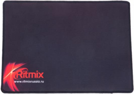 RITMIX MPD-050 Gaming Black Red {330*240*3 mm, игровая поверхность (Ковер для мыши), нескользящая основа из натурального каучука, тканевая поверхность, простроченные края}