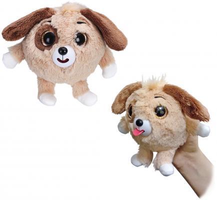 Мягкая игрушка собака 1toy Дразнюка-Zoo плюш коричневый 13 см 1toyмягкая озвученная игрушка дразнюка zoo лисичка 13 см
