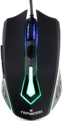 Мышь проводная Гарнизон GM-700G чёрный USB мышь гарнизон gm 120 black