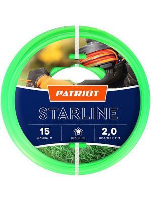 Леска Patriot STARLINE D 2,0 мм L 15 м (звезда, зеленая) леска patriot starline d 2 0 мм l 15 м звезда зеленая
