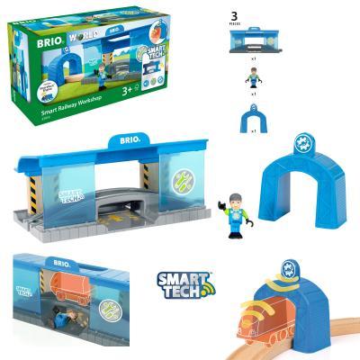 Фото - Набор Brio Вагоноремонтная мастерска синий 33918 набор brio набор туннелей зеленый 33935