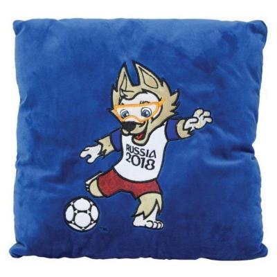 Купить Подушка подушка FIFA подушка с аппликацией Kicking плюш наполнитель синий 30 см, плюш, наполнитель, Подушки-игрушки