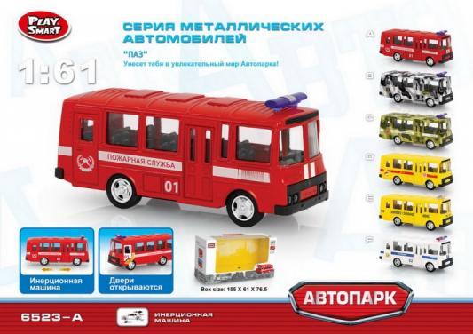 Купить Автобус Play Smart Автобус (пожарный) 1:61 красный Р49226, Детские модели машинок