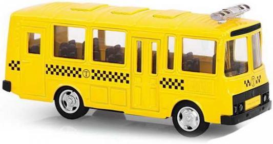 """Автобус Play Smart """"ПАЗ"""" - Заказное такси 1:61 желтый 6523-E"""