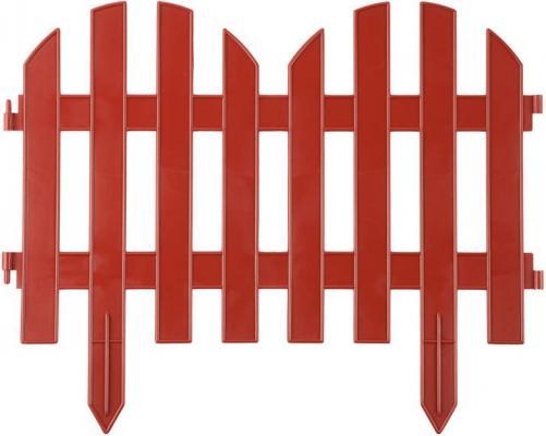 "Забор декоративный GRINDA ""ПАЛИСАДНИК"", 28x300 см, терракот [422205-T]"
