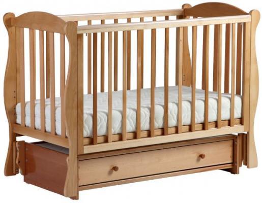 Купить Кроватка с маятником Кубаночка-6 БИ 42 (натуральный бук), массив бука / МДФ, Кроватки с маятником
