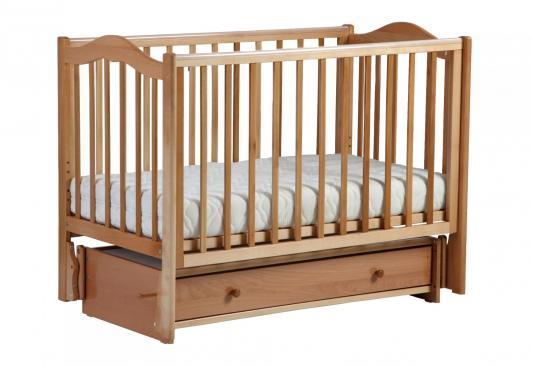 Купить Кроватка с маятником Кубаночка-2 БИ 38 (натуральный бук), Кроватки с маятником