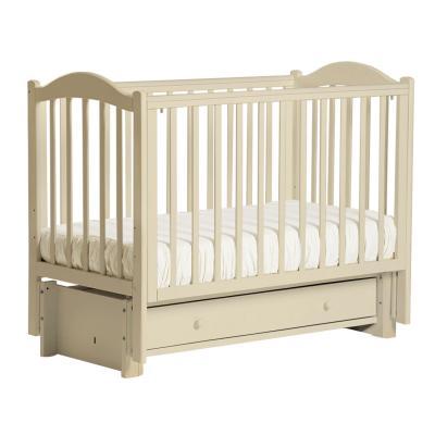 Кроватка с маятником Кубаночка-2 БИ 38 (слоновая кость) кроватка с маятником кубаночка 1 би 37 2 слоновая кость