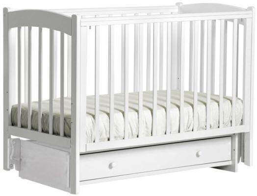 Купить Кроватка с маятником Кубаночка-3 БИ 39 (белый), массив бука / МДФ, Кроватки с маятником