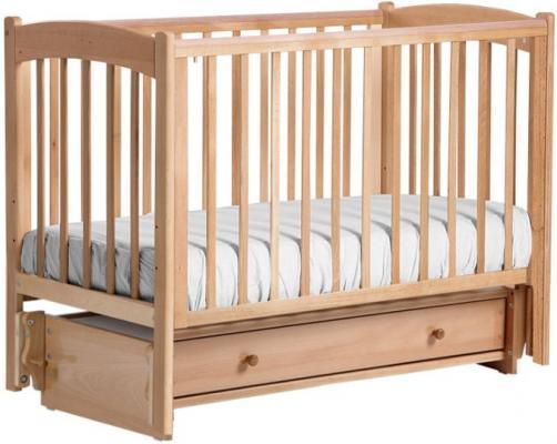 Купить Кроватка с маятником Кубаночка-3 БИ 39 (натуральный бук), массив бука / МДФ, Кроватки с маятником