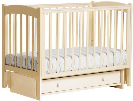 Кроватка с маятником Кубаночка-3 БИ 39 (слоновая кость) кроватка с маятником sweet baby eligio avorio слоновая кость