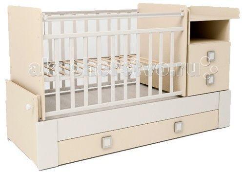 Кровать детская скв-8 1 полка 3 ящика маятник
