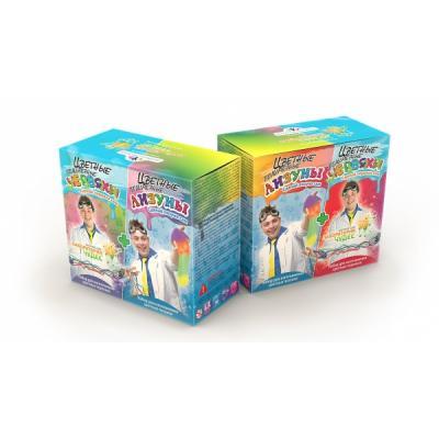 НАБОР ДЛЯ ЭКСПЕРИМЕНТОВ ЮНЫЙ ХИМИК ЦВЕТНЫЕ ЛИЗУНЫ И ЧЕРВЯКИ (2 В 1) в кор.8шт набор для опытов и экспериментов инновации для детей цветные червяки и лизуны 827