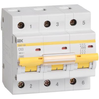 Iek MVA40-3-080-C Авт.выкл. ВА 47-100 3Р 80А 10 кА  х-ка С ИЭК