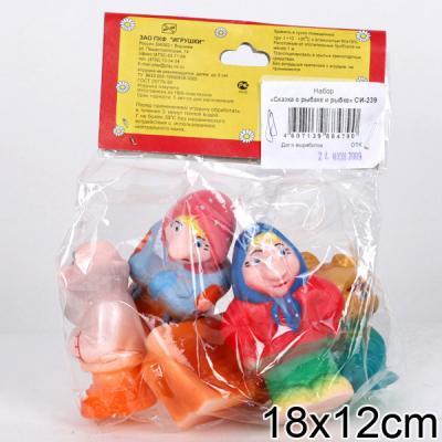 игрушки для ванны Набор игрушек для ванны Пфк игрушки Сказка о рыбаке и рыбке 8.5 см