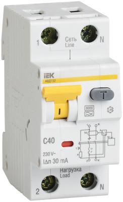 цена на Iek MAD22-5-040-C-30 АВДТ 32 C40 30мА - Автоматический Выключатель Дифф. тока
