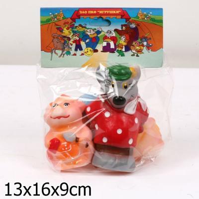 игрушки для ванны Набор игрушек для ванны Пфк игрушки Три поросёнка 16 см
