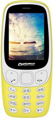 Мобильный телефон Digma N331 2G Linx 32Mb желтый моноблок 2Sim 2.44 128x160 0.08Mpix BT GSM900/1800 FM microSD max16Gb мобильный телефон fly ff178 32mb black