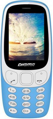 Мобильный телефон Digma N331 2G Linx 32Mb голубой моноблок 2Sim 2.44 128x160 0.08Mpix BT GSM900/1800 FM microSD max16Gb мобильный телефон fly ff178 32mb black
