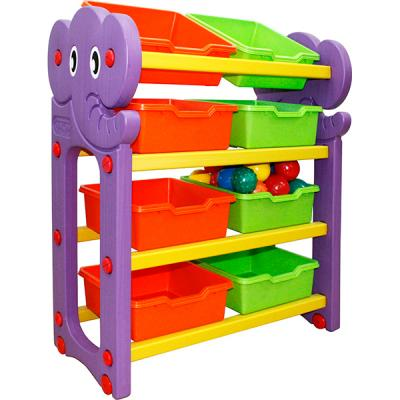 Стеллаж для хранения игрушек Happy Box (4 секции) JM-809A ifam стеллаж для игрушек designtoy 7 цвет бежевый