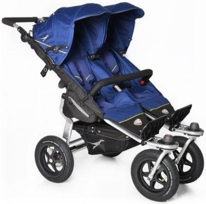Купить Прогулочная коляска для двойни TFK Twin Adventure (333/twilight blue), синий, Коляски для двоих детей