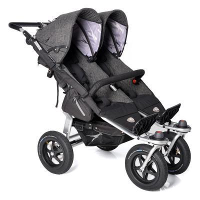 Купить Прогулочная коляска для двойни TFK Twin Adventure Premium (411), серый, Коляски для двоих детей