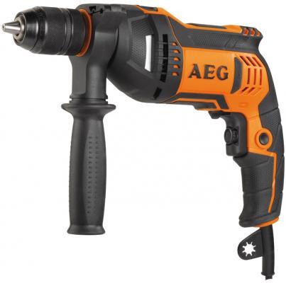 Дрель AEG BE 750 R 750Вт БЗП 13мм 0-3000об/мин сумка 1.8кг дрель aeg be 750 r 449160